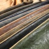 Cuero artificial de la PU del efecto antiguo noble para el bolso de mano del zapato (E6083)