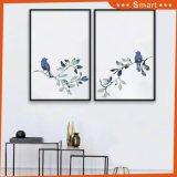 Холстина печатает птиц масла холстины комнаты украшений стены живя крася 2 обрамленную панелями картину стены