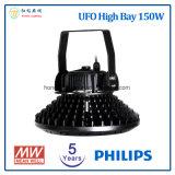 Bahía caliente 150W del UFO LED de la venta 2017 alta con 5 años de garantía