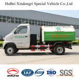 3cbm Kama 수송 트럭을 배달하는 전기 훅 팔 유형 쓰레기 포가