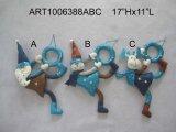 Regalos de la decoración del tirador del muñeco de nieve y de los alces de Santa, 3 Asst - decoración de la Navidad