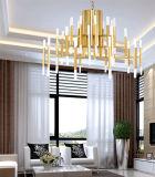 Светильник 2017 канделябра канделябра СИД металла золота самомоднейший для комнаты