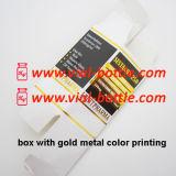 Cadre de fiole de l'impression de couleur en métal d'or 10ml