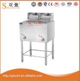 Friteuse profonde de vente de friteuse profonde électrique commerciale chaude de la cuisine 2-Tank