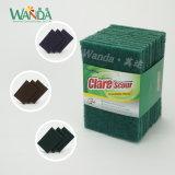 12PCS世帯のクリーニング製品の研摩の緑の磨くパッド
