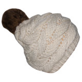 Chapéu feito sob encomenda do Beanie da pele POM POM do falso da forma das mulheres
