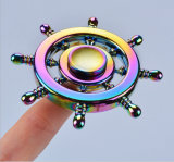 Rainbow Colorful Metal Finger Tri Spinner Jouet à main Fidget Spinner