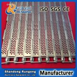 Banda transportadora con bisagras placa resistente de la conexión del hierro