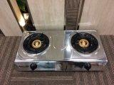 2つのバーナーJpGc204Lが付いているステンレス鋼のテーブルの上のガスレンジ