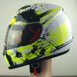 Шлем полной стороны мотовелосипеда в белизне и черноте
