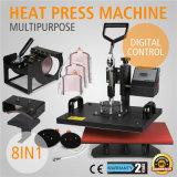 Bateau au modèle le plus neuf mondial 8 dans 1 machine de presse de la chaleur, presse de la chaleur, sublimation