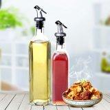 Tampa de plástico Alimento 150ml Pequeno molho de soja / vinagre Garrafa de vidro de óleo de cozinha