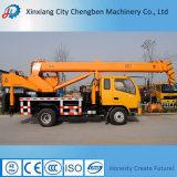 Grue de levage mobile de boum télescopique hydraulique de la Chine mini avec le châssis de camion