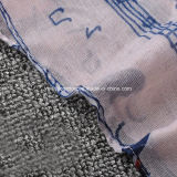Heiße Dame Fashion Voile Scarf des Verkaufs-2017 mit Musik-Anmerkungs-Katze-Schal