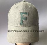 Sombrero de béisbol de la manera en tela del lino/de algodón con Emb en el frente (LY055)
