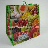 Non сплетенный мешок еды, мешок Tote (BG1108)