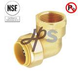 Te apta de Mnpt del empuje de cobre amarillo sin plomo del Upc