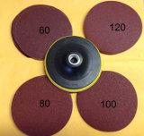 125 mm 알루미늄 산화물 또는 실리콘 탄화물 벨크로 모래로 덮는 디스크