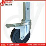 10 Zoll-schwarzes Gummischwenker-Gestell-Fußrollen-Rad