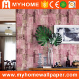 Papel de parede do vinil 3D do PVC do revestimento da parede para a decoração da casa