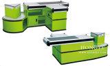 Enregistrer la caisse de sortie de bureau de caissier en métal