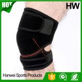 Расчалка колена неопрена обслуживания OEM/ODM вскользь атлетическая (HW-KS011)