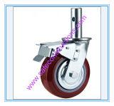 Sicheres haltbares Baugerüst-Fußrollen-Rad für Aufbau