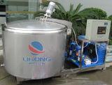 Réservoir de Chillling de lait d'acier inoxydable avec à couvercle serti