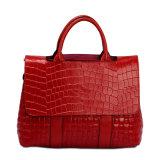 숙녀 디자이너 가짜 악어 가죽 운반물 Satchel 어깨에 매는 가방