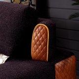 تصميم حديثة أريكة قطاعيّ مع بناء وجلد تغذية لأنّ يعيش غرفة أثاث لازم - [فب1140]