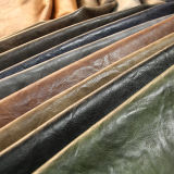 Couro quente do plutônio da antiguidade da venda para as sapatas das bolsas (E6083)