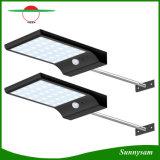 Lampe solaire de 36 DEL de détecteur de jardin humain léger solaire ultra-mince extérieur de voie avec monter Pôle