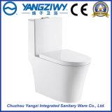Toilette en céramique monopièce de ménage avec le double trou Siphone (YZ1827)