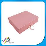 Rectángulo de regalo de papel de encargo popular con el encierro de la cinta