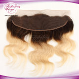 Onda frontal do corpo do laço do cabelo 13X4 1b/613# Blone do Virgin