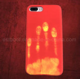 Color sensible al calor de la temperatura que cambia la caja del teléfono móvil para el iPhone