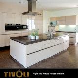 島の台所デザインガラス引き戸の戸棚の寝室のホーム家具Tivo-096VW