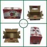 손잡이를 가진 과일 판지 상자 도매를 인쇄하는 풀 컬러