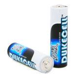 en las baterías favorables al medio ambiente del AA de la tarjeta de papel