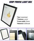 대중음식점 메뉴 널 LED 표시를 가진 가벼운 상자를 광고하는 Ultra-Thin 알루미늄 프레임
