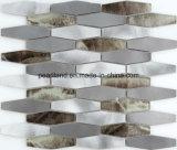 De Tegels Aachrb3202 van de Muur van de Badkamers van Backsplash van de Keuken van de Decoratie van de Tegels van het Glas van Matel van de Tegels van het Mozaïek van het aluminium