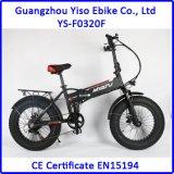 grasa 20inch plegable la bici eléctrica de E con la batería ocultada