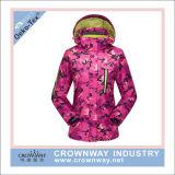 안쪽으로 양털 재킷을%s 가진 스키 재킷을 인쇄해 방수 여자