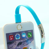 câble usb micro de bracelet de téléphone mobile de 22cm de caractéristiques plates de charge