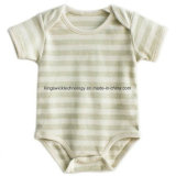 100%の赤ん坊の衣服のための有機性綿の長い袖の新生の一つのロンパースの幼児Bodysuit