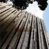 Painel de alumínio perfurado de revestimento feito-à-medida da fachada de PVDF