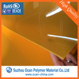 Feuille rigide bleue transparente de PVC d'Embossy, feuille rigide Anti-R3fléchissante claire mince de PVC pour la formation de vide