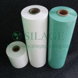 Película quente do envoltório plástico da venda, película para a grama que envolve, película plástica do envoltório da ensilagem de LLDPE da bala holandesa