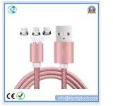 3 en 1 nylon trenzado magnético cable cargador USB para el iPhone tipo-C Android