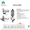 "Arco Iris Reflector de aire de 6 ""con doble bisagra de vidrio con bisagras + cable de 15 pies ETL Listed"